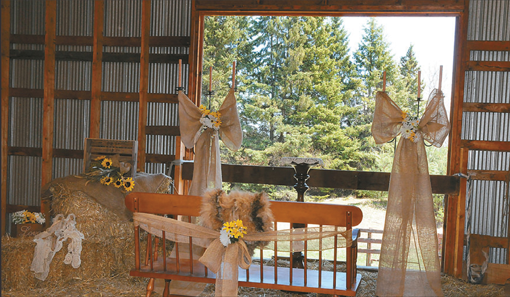 View from the barn loft at inspiredweddings.ca